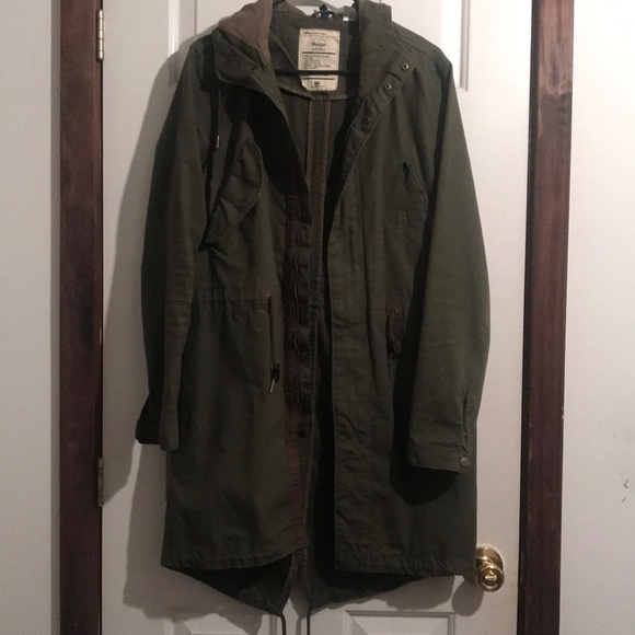 1bff6aba3 H&M Jackets & Coats | Hm Log Fishtail Army Green Jacket Mens Xsmall ...
